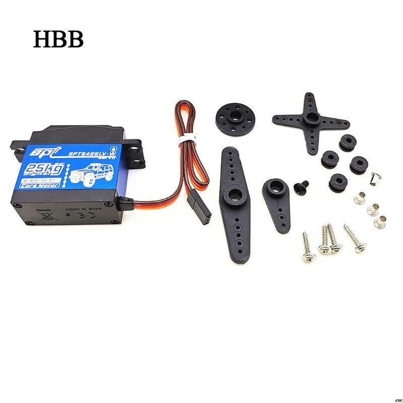 SPT5425LV-W 25KG 90 Degrees Digital Servo For 1:8 1:10 RC Car Boat Robot Toys for Children RC Car Parts