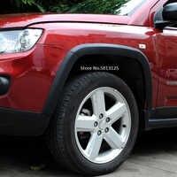 Dla Jeep Compass 2011 2012 2013 2014 2015 koło samochodowe do przycinania brwi tarcie uszczelka dekoracyjne naklejki 10 sztuk/zestaw stylizacje samochodów