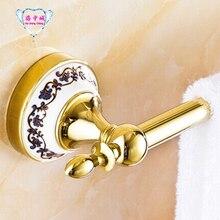 Горячая распродажа! фарфор твердой латуни Золотой (60 см) один полотенце бар, держатель для полотенец, вешалка для полотенец, аксессуары для ванной комнаты