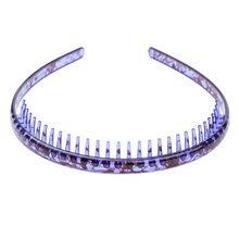 Bandeau de cheveux de 1.6cm de largeur, accessoires colorés pour cheveux, peigne de dentition antidérapant pour femmes, couvre-chef étanche