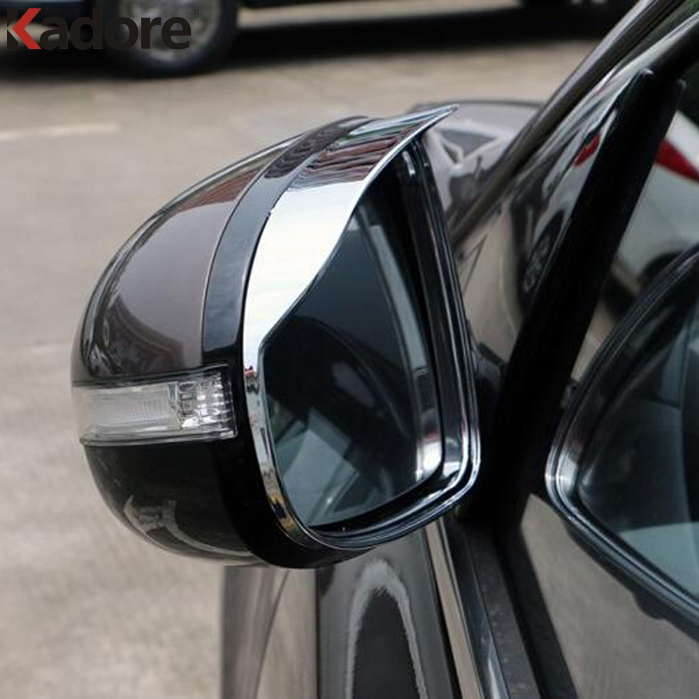 For <font><b>Kia</b></font> Sportage 2017 2018 <font><b>Chrome</b></font> Sun Rain Guard Shield Deflector Trim Side Door <font><b>Mirror</b></font> Cover Decoration Exterior Accessories image