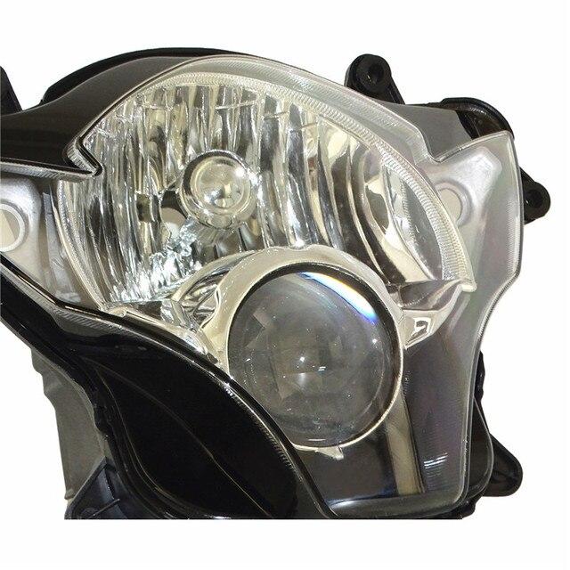 Waase-lampe frontale GSXR 600 750   Ensemble de lampe frontale de phare de moto pour Suzuki GSXR600 GSXR750 K6 K7 2006 2007