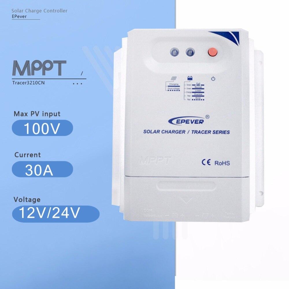 Traceur 3210CN Mppt 30A de Charge Solaire Contrôleur 12 v/24 v Auto Panneau Solaire Batterie Régulateur de Charge avec La Lumière et Contrôleur de Temps
