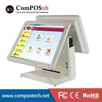 2017 New 15 Inch Dual Screen Display Touch Computer Cash Register Double Screen Restaurant Cash Register 2PCS