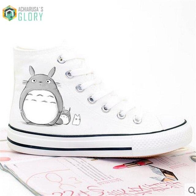New Arrival Men Canvas Totoro Print Shoes