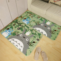 Totoro Mat Super Soft Coral Fleece Cartoon Anti Slip Rugs Carpet For Home Living Room Kitchen