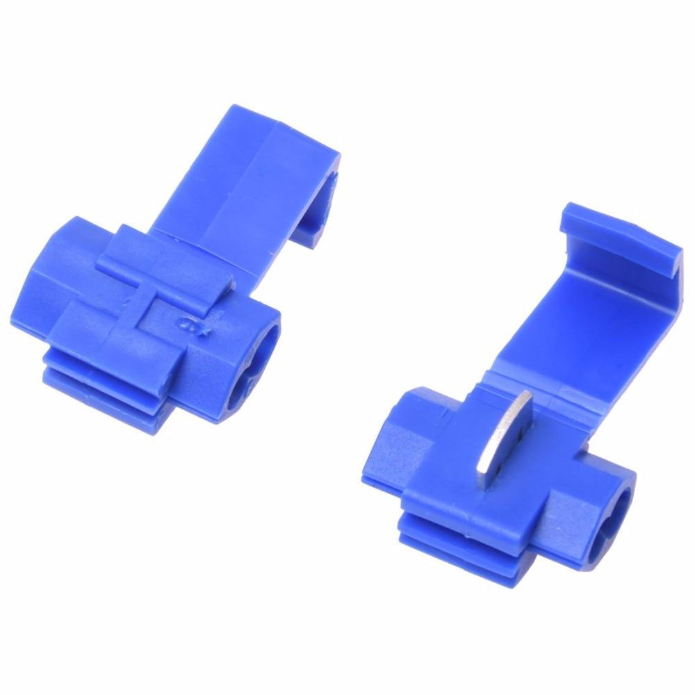 Promotion! 100x Blue Scotch Lock Wire Connectors Quick Splice Terminals Crimp Electrical