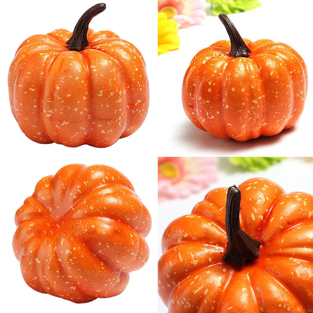 Artificial Orange Mini Halloween Pumpkin Wedding Party Festival Home Decoration Photography Props Kids Gifts