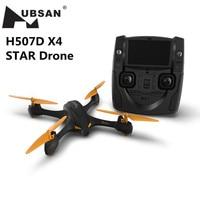 Tüketici Elektroniği'ten Akıllı Uzaktan Kumanda'de Hubsan Drone H507D X4 YıLDıZ Drone Ile Carema720P Kamera 5.8G FPV Rakım Tutun Beni takip Modu GPS rc dört pervaneli helikopter RTF çocuk Oyuncakları