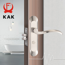цены на KAK Fashion Mute Bedroom Door Lock Zinc Alloy Interior Door Handle Washroom Kitchen Toilet Anti-theft Lock Furniture Hardware  в интернет-магазинах