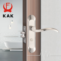 KAK Fashion Mute Bedroom Door Lock Zinc Alloy Interior Door Handle Washroom Kitchen Toilet Anti theft Lock Furniture Hardware