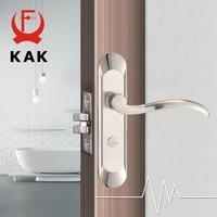 KAK Fashion Mute Bedroom Door Lock Zinc Alloy Interior Door Handle Washroom Kitchen Toilet Anti theft Lock Furniture Hardware