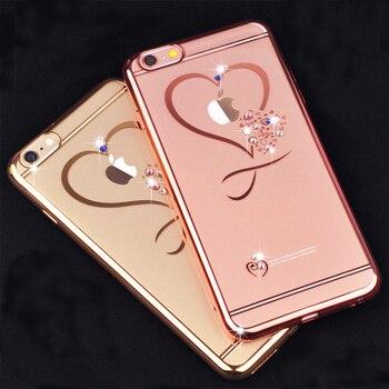 Obudowa iPhone - Serce kryształki