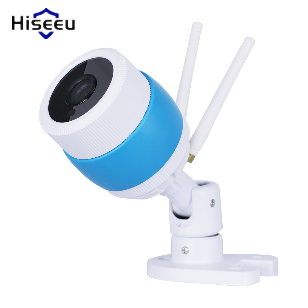 Hiseeu Wireless Outdoor IP Camera Wifi Metal Case Waterproof 720P Night Vision Security Cam HD Bullet Camera For Android IOS 43 wistino cctv camera metal housing outdoor use waterproof bullet casing for ip camera hot sale white color cover case