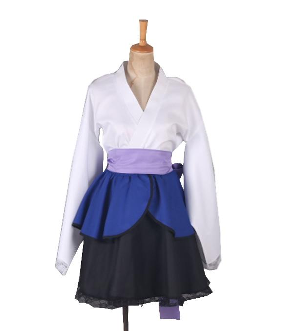Free Shipping Naruto Shippuden Uchiha Sasuke Female Lolita Kimono Dress Anime Cosplay Costume