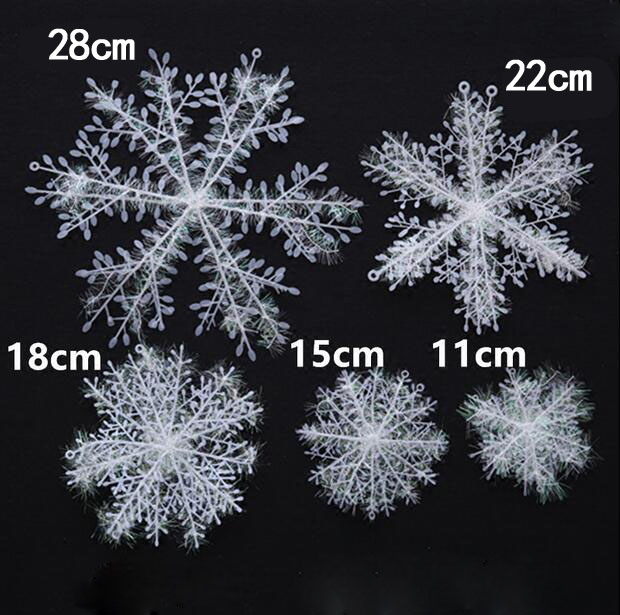 various sizes christmas holiday white snowflake charms for glass