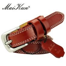 Maikun женский ремень модный ремень из высококачественной кожи с классической пряжкой Для брюк и рубашки Прямая поставка