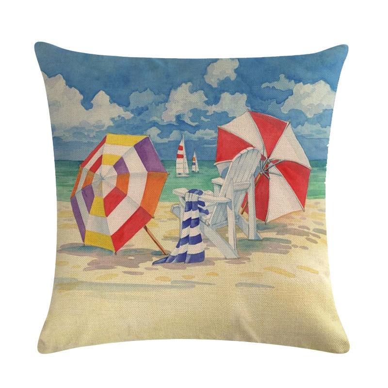sailor beach coastal octopus cushion cover discount sofa pillows US SELLER