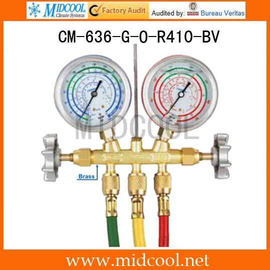 Sight Glass Brass Testing Manifolds CM-636-G-O-R410-BVSight Glass Brass Testing Manifolds CM-636-G-O-R410-BV