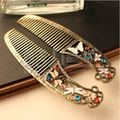 FJ  0143 Foreign trade in Europe and America to do the old vintage jewelry butterfly dragonfly comb hair ornaments free shipping