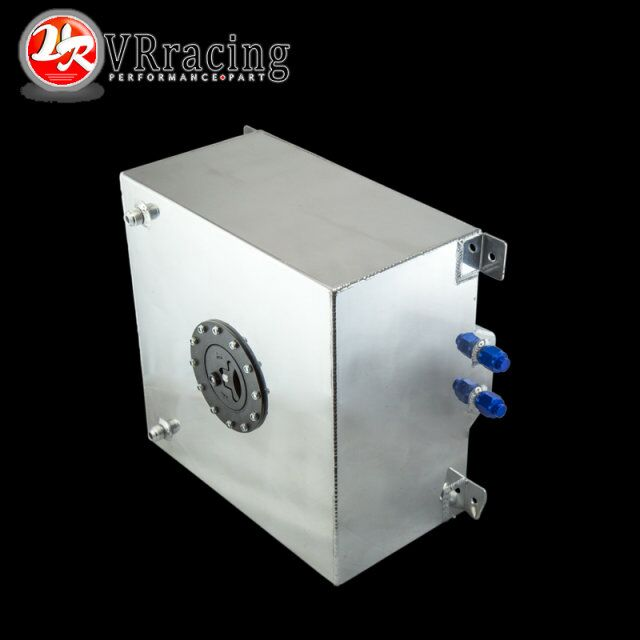 ФОТО VR RACING- 40L Aluminum Fuel Surge tank with cap/ foam inside mirror polished Fuel cell  without sensor VR-TK21