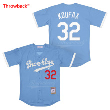 Throwback Jersey Mens Brooklyn Koufax Movie Baseball Jerseys Colour White Gray Blue Black Shirt Stiched Wholesale Cheap