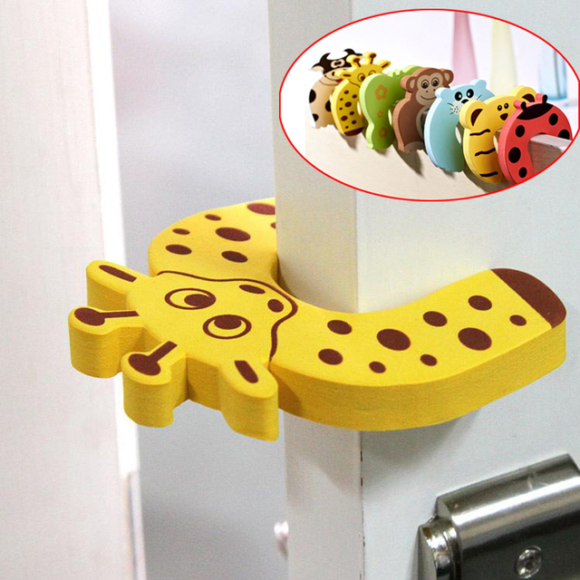 5pc/lot Animal Jammer Baby Kid Children Safety Care Protection Silicone Gates Doorways Decorative Magnetic Door Stopper Gates 1