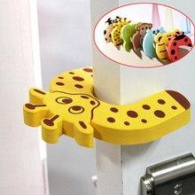 Jammer de animais para crianças, criança 5 pc/lote animais cuidado de segurança silicone gatos portas decorativos magnético porta rolha gatos