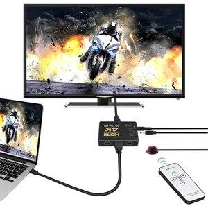 Image 5 - Rovtop Mini HDMI Switcher 4K HD1080P 3 5 Cổng HDMI Switch Phím Chọn Bộ Chia Với Trung Tâm Điều Khiển Từ Xa IR Cho HDTV DVD TV Box Z2