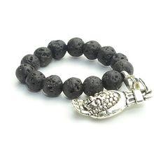 Женское кольцо ручной работы фэн шуй Будда растягивающаяся лава