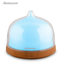 Aromacare Aroma Essential Oil Diffuser Free Shipping 200mL Wood Grain 7 Color Rainbow Light