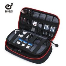 ECOSUSI Acessórios Digital Devices Gadget Organizer Cabo USB Carregador Portátil Tote Saco De Armazenamento Caso Sacos de Organizador de Viagens(China (Mainland))