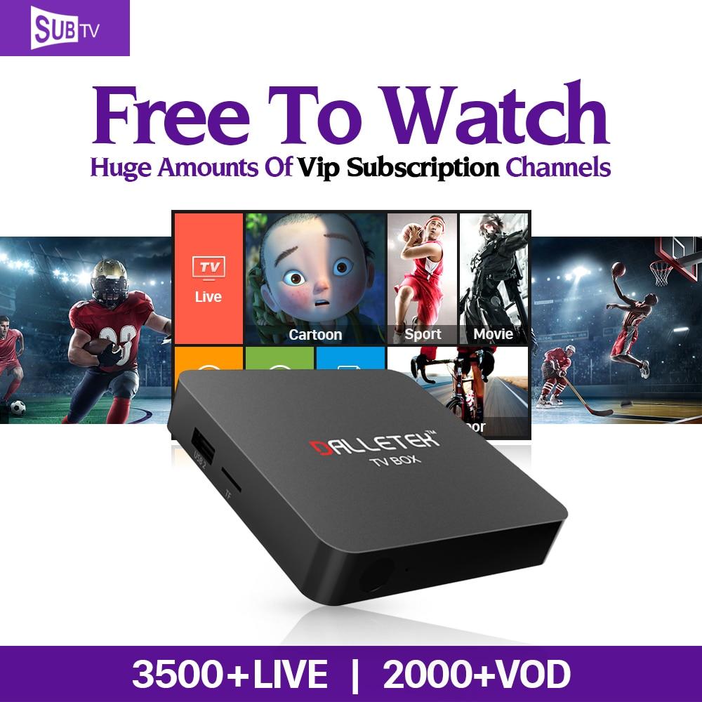 4K Android 6.0 Smart TV Box Amlogic S905X Quad Core with 3500 HD Channels SUBTV IPTV European Arabic Africa India UK Set Top Box водонагреватель накопительный de luxe 7w40vs1 40л 1 5квт