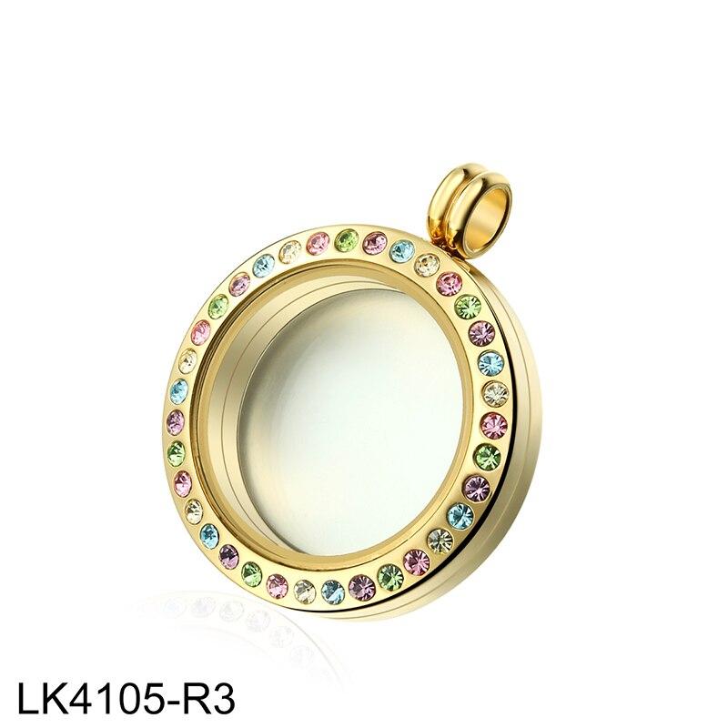 Радуга горный хрусталь с памяти живущих стекло медальон плотная 316L Нержавеющаясталь золотое покрытие, фото медальон для Для женщин