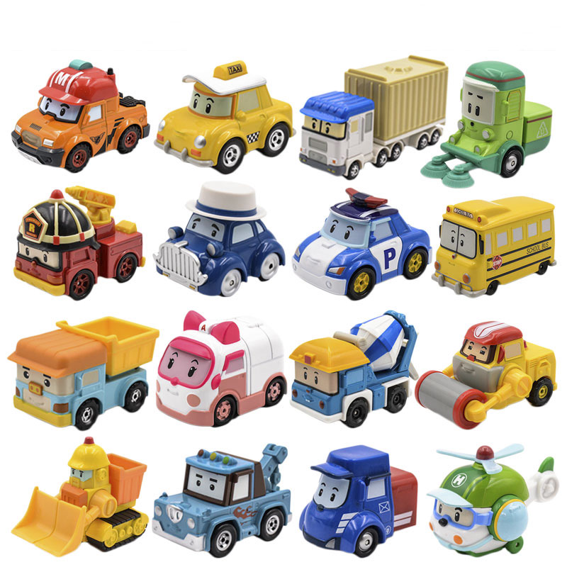 Robot Car Poli (Non-Deformation) Musti Amber Roy Diecasts Metal Alloy Car Figure Robot Car Toys Korea Toys for Children Gifts