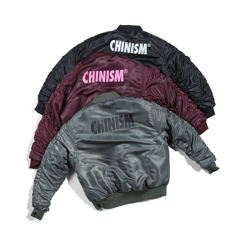 CHINISM Winter Thick Ma1 Bomber Jacket Pilot Anarchy Outerwear Mens Brand Printed Classic Flight Streetwear Warm Anorak Jacket
