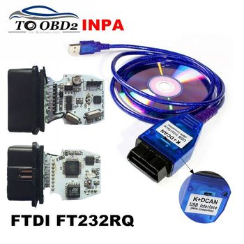 INPA K+CAN K CAN INPA With FT232RQ Chip INPA K DCAN with Switch USB Interface Full Diagnostic + 20Pin Cable For BMW Series image