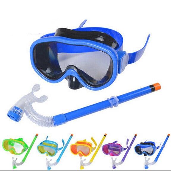 59732e3f052d Boys and girls unisex adjustable swimming glasses Scuba Diving Masks ...