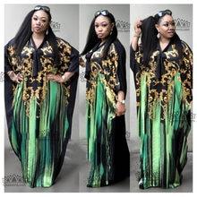 8a852891d3b 2018 Dashiki African Fashion Bat Sleeve Sexy Plus Size Chiffon Long Dress  with Scaf For Lady (XF09 )