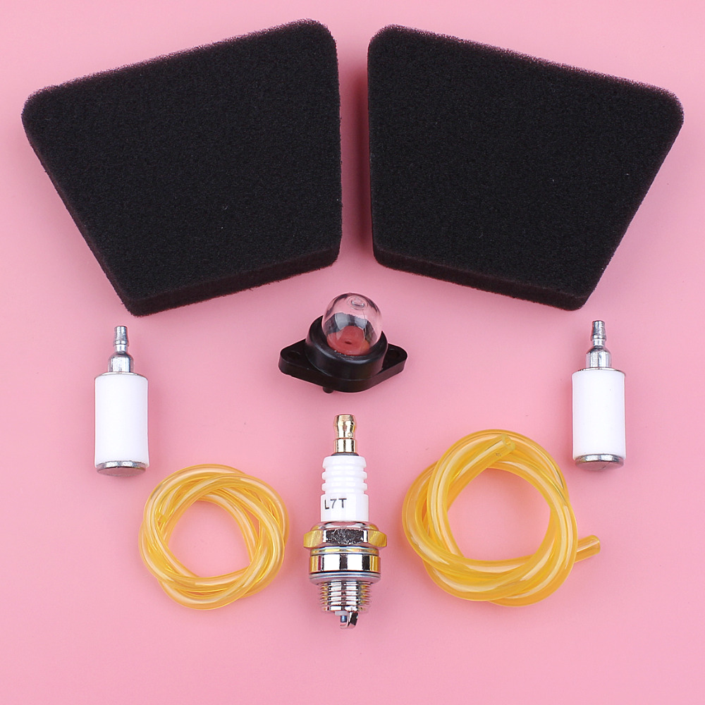 4pcs// Set Fuel Line Fuel Filter Kits for Poulan Chainsaw 2 Cycle Gas Engine