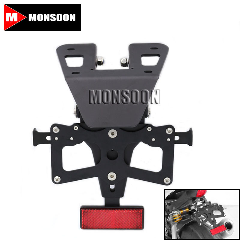 For YAMAHA YZF-R3 15-16 YZF-R25 14-15 Motorcycle Adjustable Fender Eliminator Registration Plate Bracket License Plate Holder motorcycle cnc aluminum mudguard rear fender bracket license plate holder light for yamaha yzf r25 r3 yzf r25 yzf r3