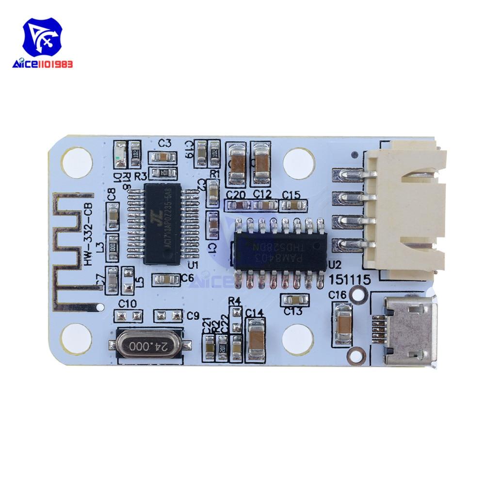 US $1 88 16% OFF|PAM8403 Wireless Stereo Audio Receiver Module For Arduino  Digital Amplifier Sound Loud Board Micro USB Bluetooth 4 0 3W+3W-in
