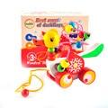 Новые Образовательные утенок прицеп игрушки мини вокруг бисер обучающая игра многоцветный дети дети детские головоломки детские деревянные Игрушки