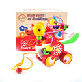 New Educational duckling trailer toy mini around beads learning game multicolour  children kids puzzle baby infant wooden Toy