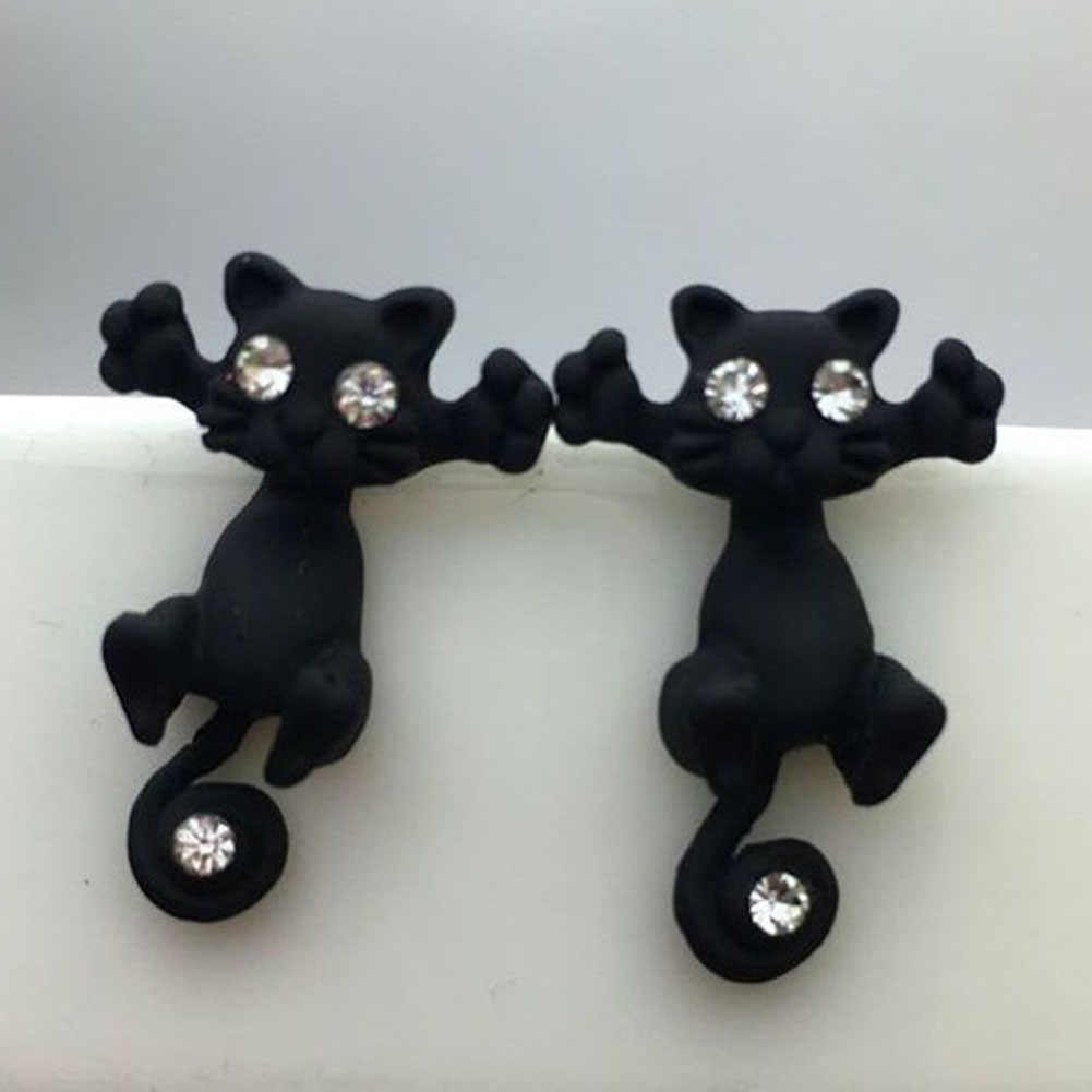 1 PC/2PCS  New Arrival 3D imitation pearl Kitty Cat Cute Stud Earrings set for Women Girl 9 colors Free shipping