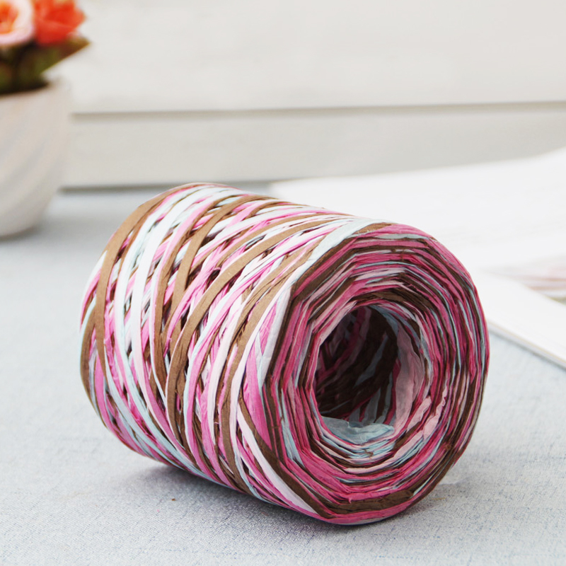 Image 5 - 200M Paper Rope Raffia Ribbon Natural Lace Rope Gift Box Wrapping DIY Scrapbooking Crafts Wedding Birthday Party Decoration-in Party DIY Decorations from Home & Garden
