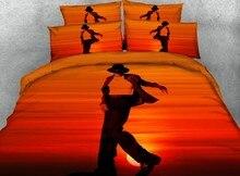 Michael Jackson Bedding sets Luxury Designer duvet cover set Super King Queen size twin full bed sheet sheets linen Sunset 4PCS