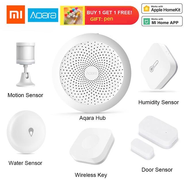 Xiaomi aqara Centro de casa inteligente Kits de puerta de ventana de puerta de Sensor de cuerpo humano interruptor inalámbrico humedad Sensor de agua para Homekit de Apple.