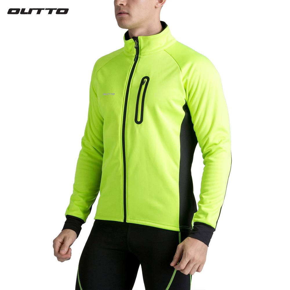 Outto Windproof Waterproof Men's Thermal Winter Cycling Jacket Long Sleeve Bike Windbreaker #17006-in Cycling Jackets from Sports & Entertainment    1