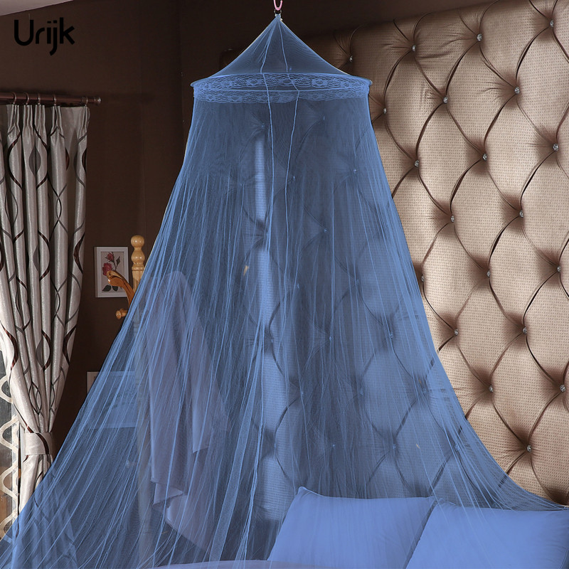 Urijk 1PC Romantic Hung Dome Mosquito Net Bed Canopy Princess Moustiquaire Round Mosquito Nets for Bedroom Circular Curtain